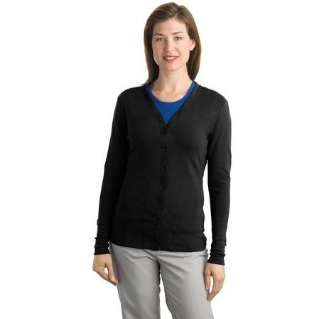Port Authority Ladies Modern Stretch Cotton Cardigan 3XL - Black