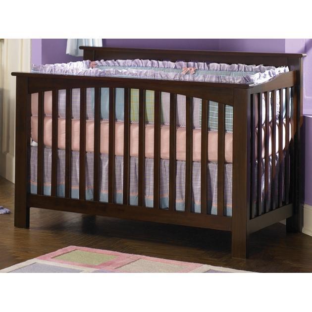 Atlantic Furniture 4013430 Columbia Crib / Full Bed Antique Walnut