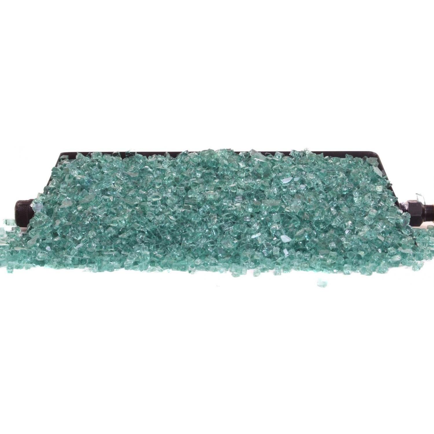 Peterson Real Fyre Peterson Fyre Glass 16 Inch Emerald See Thru Fire Glass Set With Vented Natural Gas G45 Burner - Variable Flame Remote at Sears.com