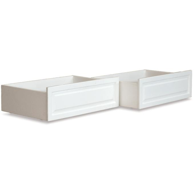 Atlantic Furniture 66002 Raised Panel Bed Drawer Queen Bed/King Bed White