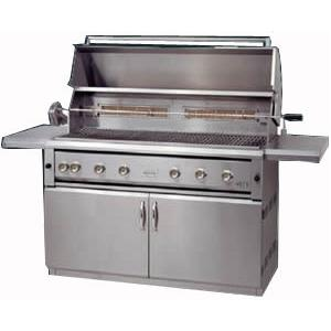 Luxor Gas Grills 54 Inch All Infrared Natural Gas Grill On Cart With Rotisserie AHT-54FR-NG