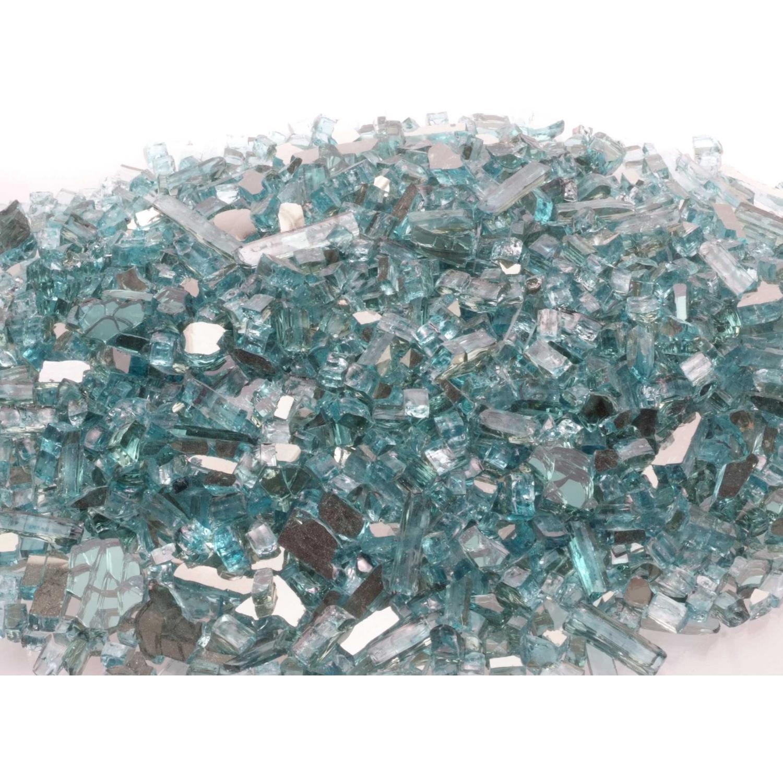 Peterson Fyre Glass Azuria Reflective Fire Glass - 10 Lbs 2743684