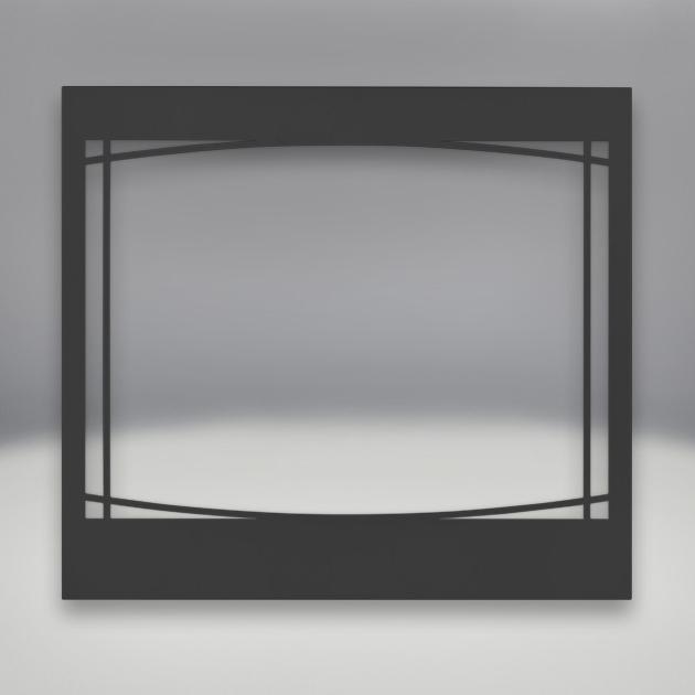 Napoleon Black Zen Decorative Front For Ascent 36-Inch Di...