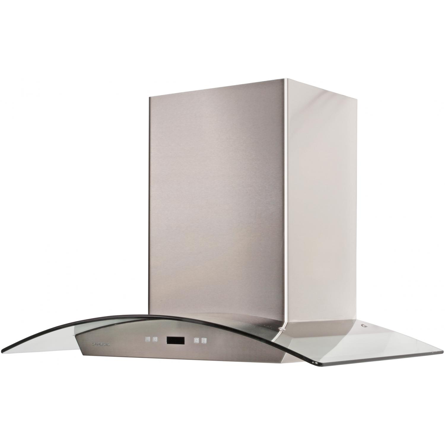 Cavaliere 36-Inch 900 CFM Wall Mounted Range Hood With Glass Canopy - SV218D
