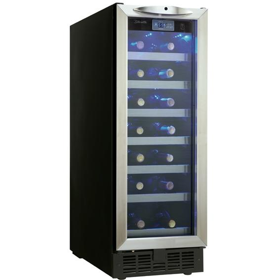 Danby DWC276BLS 27 Bottle Built-In Silhouette Wine Cooler - Glass Door / Stainless Steel Trim
