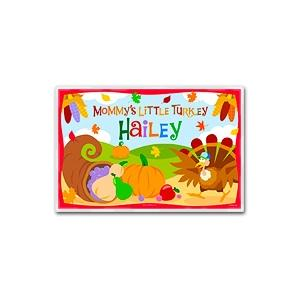 Olive Kids Personalized Laminate Placemat - Turkeys Mommys Little Turkey