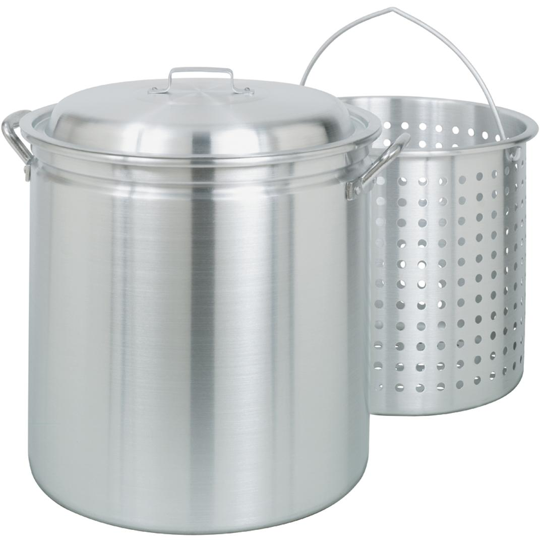 Bayou Classic 42 Qt Aluminum Stockpot With Basket