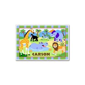 Olive Kids Personalized Laminate Placemat - Wild Animals