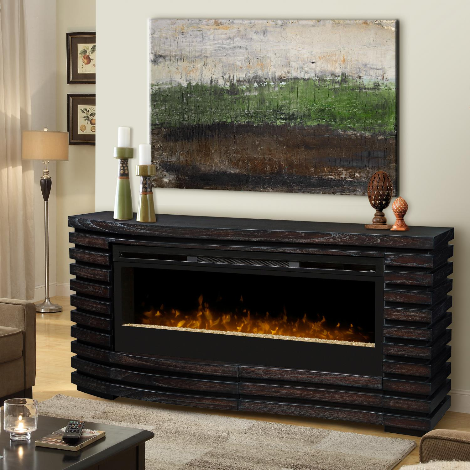 Dimplex Elliot 70-Inch Electric Fireplace Mantel - Acryli...