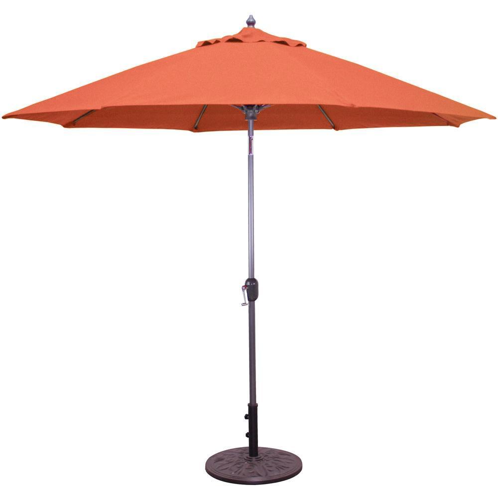 Galtech 9 Ft. Octagonal Aluminum Patio Market Umbrella W/...