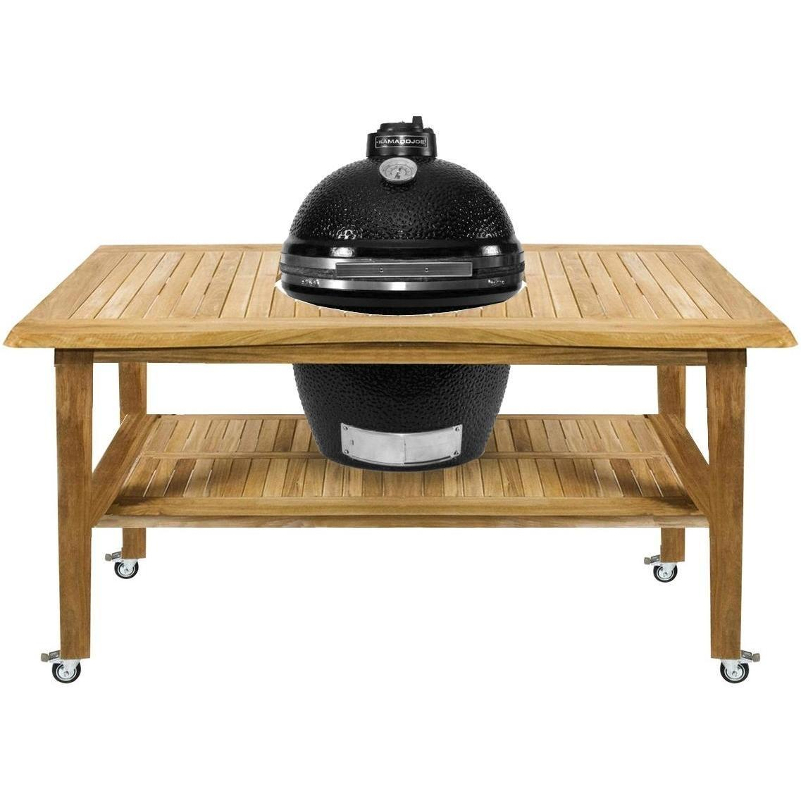 Kamado Joe Classic Ceramic Grill With Stainless Bands On