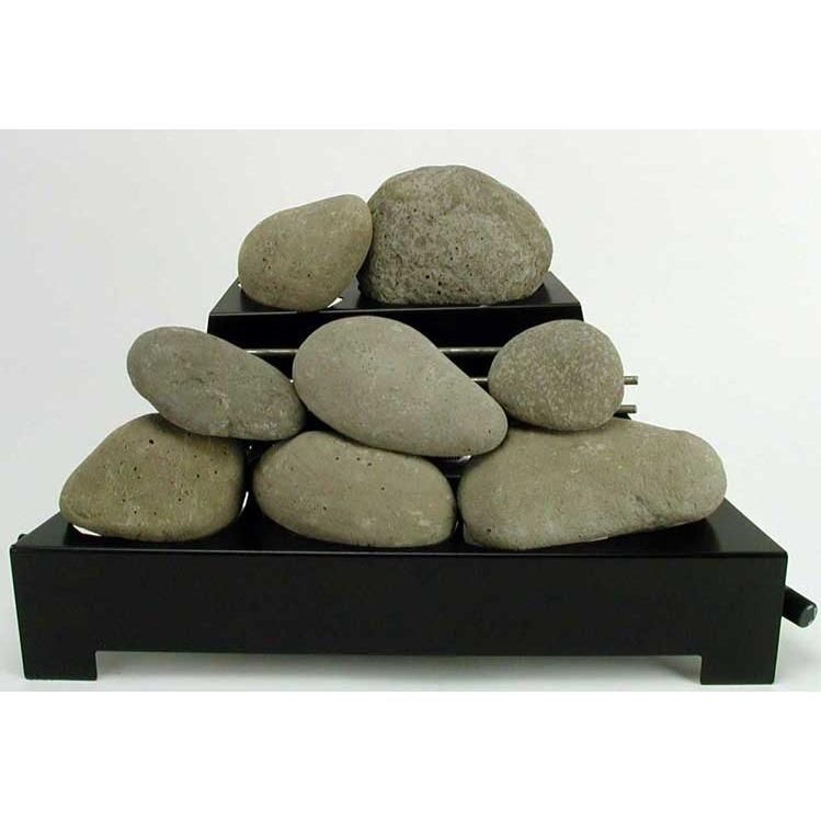 Rasmussen 20 Inch Natural Alterna See-thru Firestone Set With Vent Free Natural Gas Black Chassis Burner - Remote Ready... at Sears.com