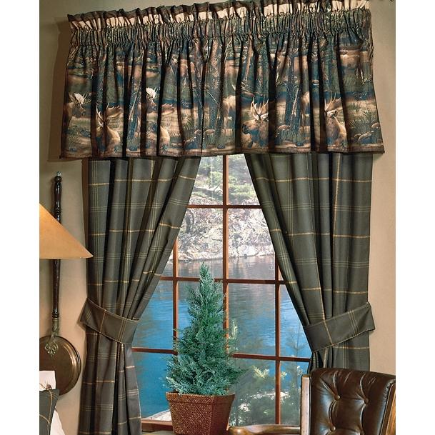 Blue Ridge Trading Window Curtain Pair - Moose Mountain