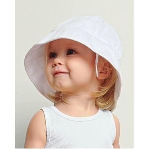 Bella Baby Infant Sun Hat M/L - White