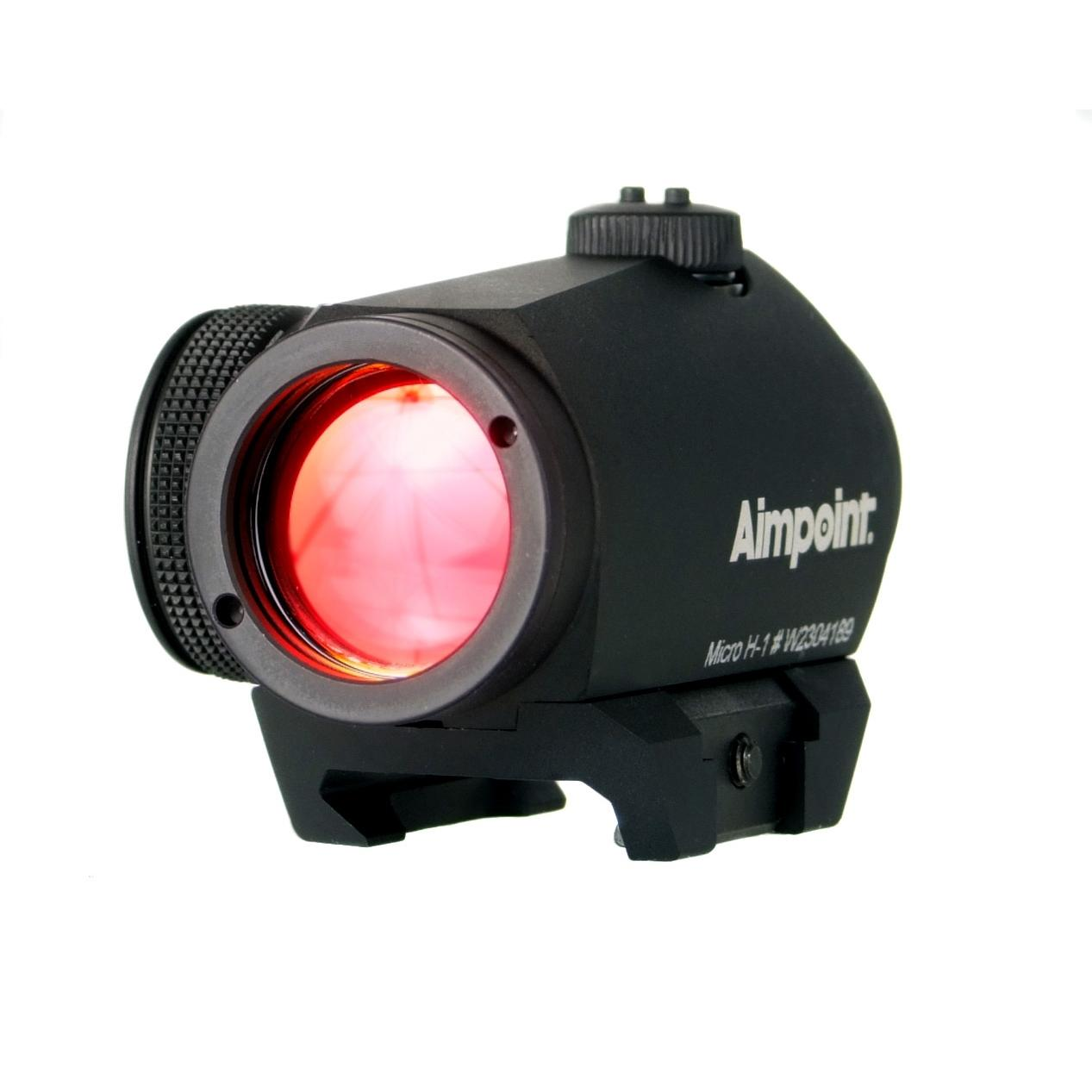 Aimpoint Micro H-1 Red Dot 4 Moa Sight - Black - 11910