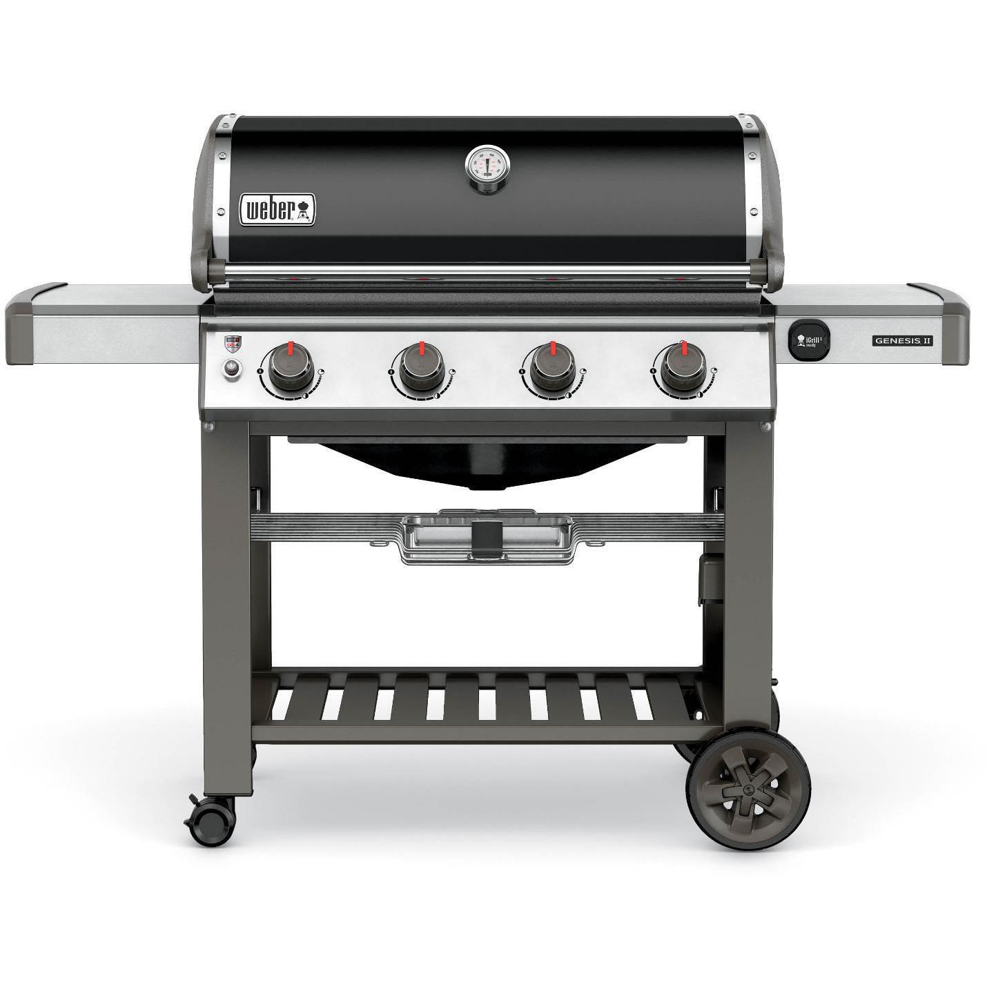 Weber Genesis II E-410 Freestanding Natural Gas Grill - B...