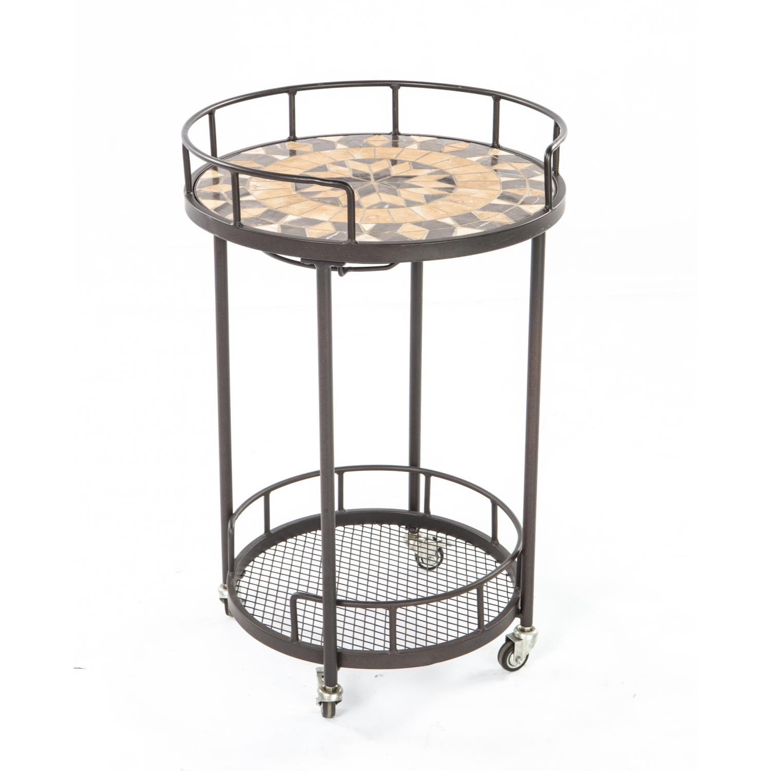 Alfresco Home Loretto Mosaic Outdoor Serving Cart at Sears.com