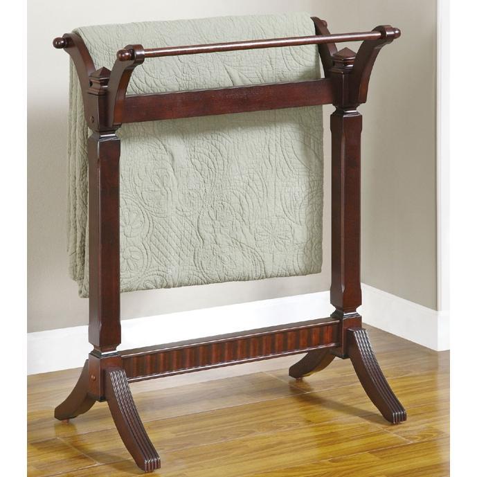 Powell Furniture - Contemporary Merlot Blanket Rack - 383-273