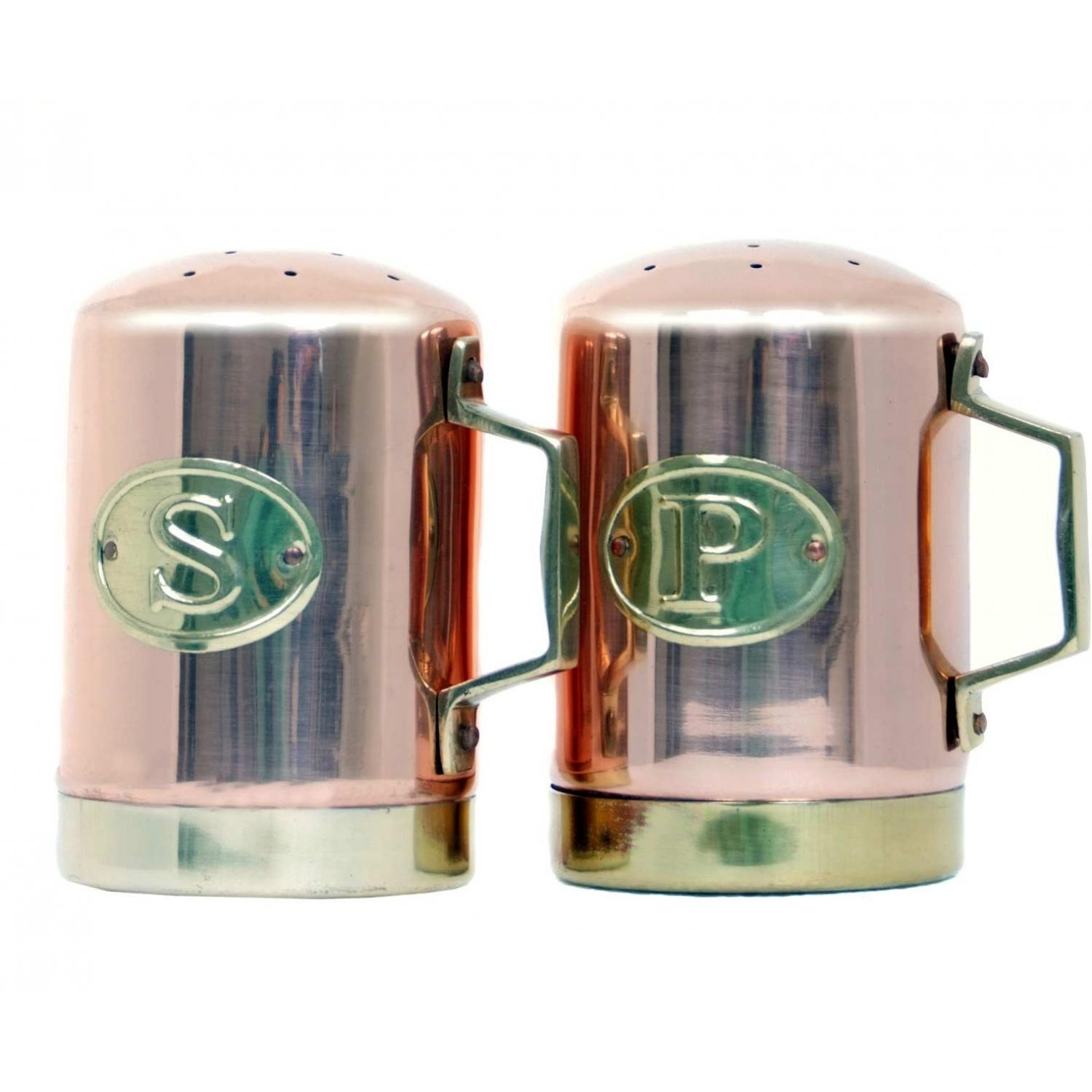 Old Dutch Copper Salt And Pepper Shakers - 4.25 Inch