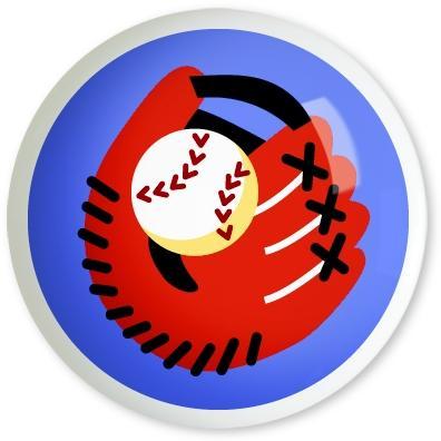 Olive Kids 2-Piece Drawer Pull Knob Set - Game On Baseball