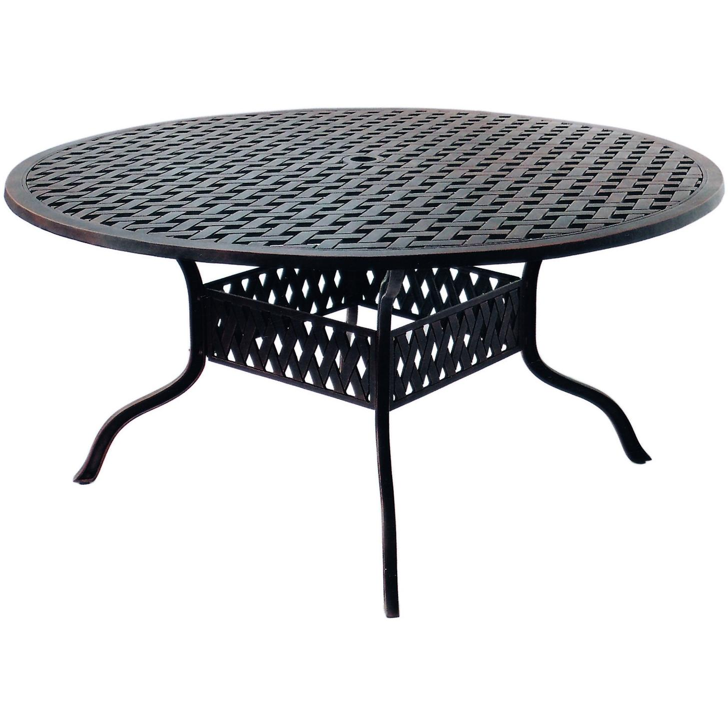 darlee series 30 cast aluminum patio dining table