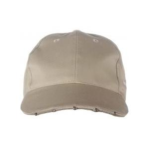 Huntworth Dozen Lighted LED Promo Baseball Caps - Khaki