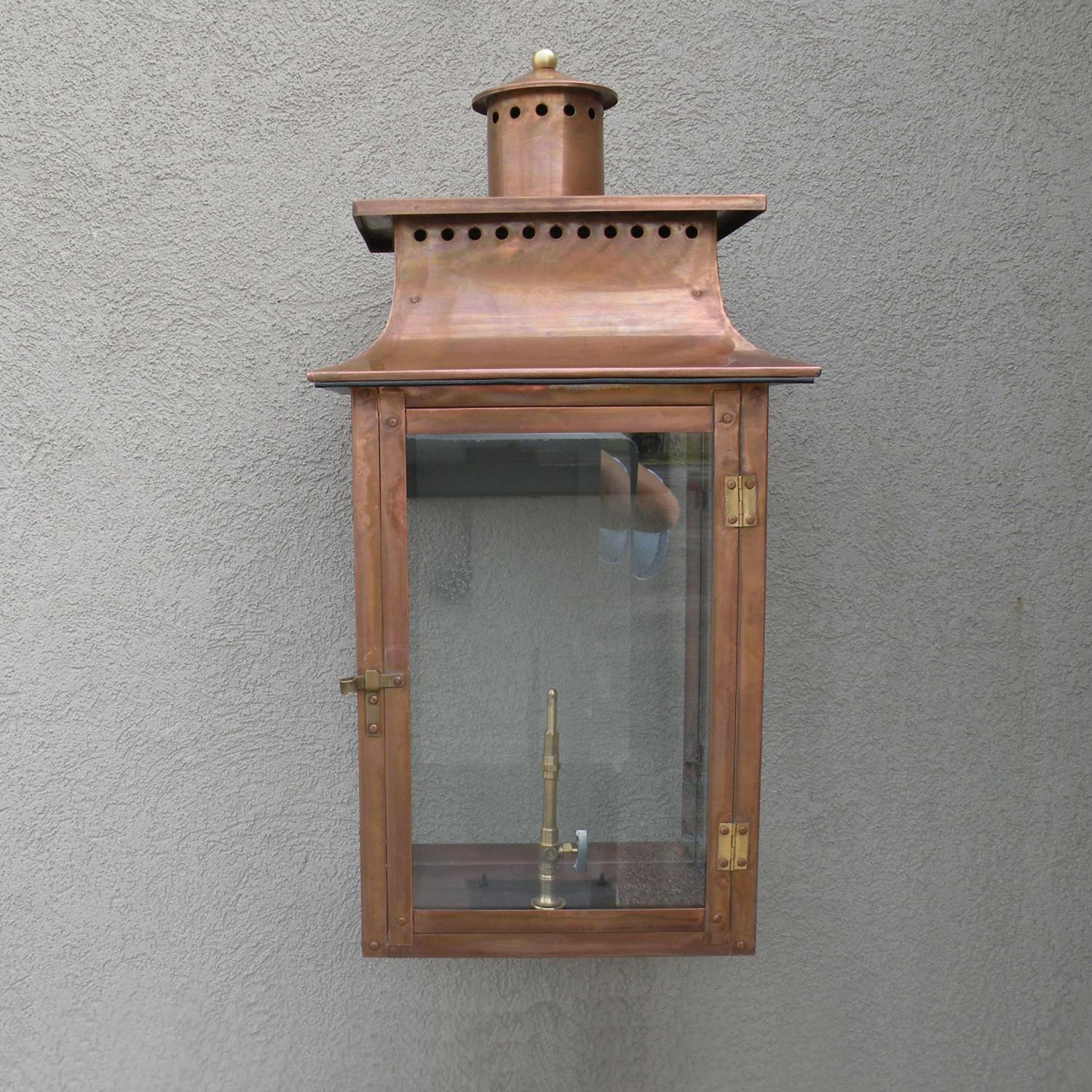 Regency GL26 Faye Rue Large Propane Gas Light With Open Flame Burner And Manual Ignition On Wall Scroll Mount
