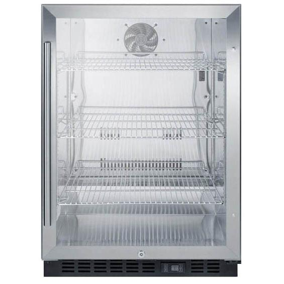 Summit 5.2 Cu. Ft. Built-In / Freestanding Beverage Refrigerator - Stainless Steel - SCR610BLCSS
