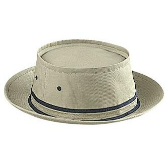 Otto Cap Cotton Twill Fisherman Hat S/M - Khaki/Navy