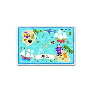 Olive Kids Personalized Laminate Placemat - Pirates