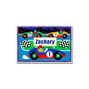 Olive Kids Personalized Laminate Placemat - Vroom! Racecar