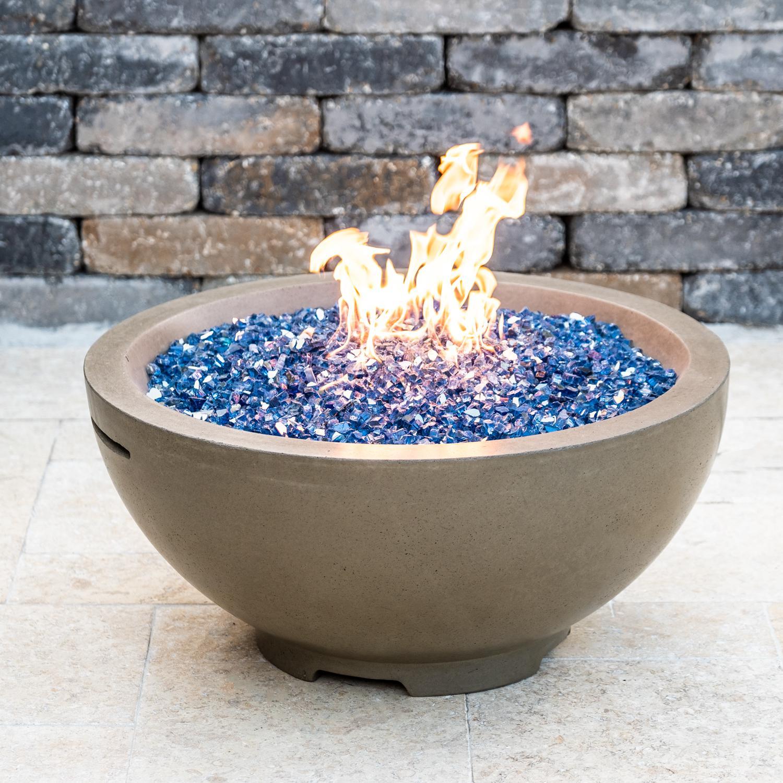 "American Fyre Designs 32"" Natural Gas Fire Bowl - Smoke - 733-sm-11-v6nc"