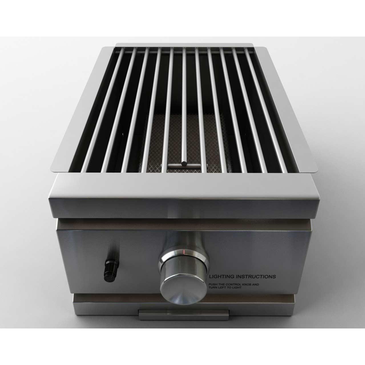 RCS Infrared Side Burner Built-In Natural Gas Side Burner - RSB2NG