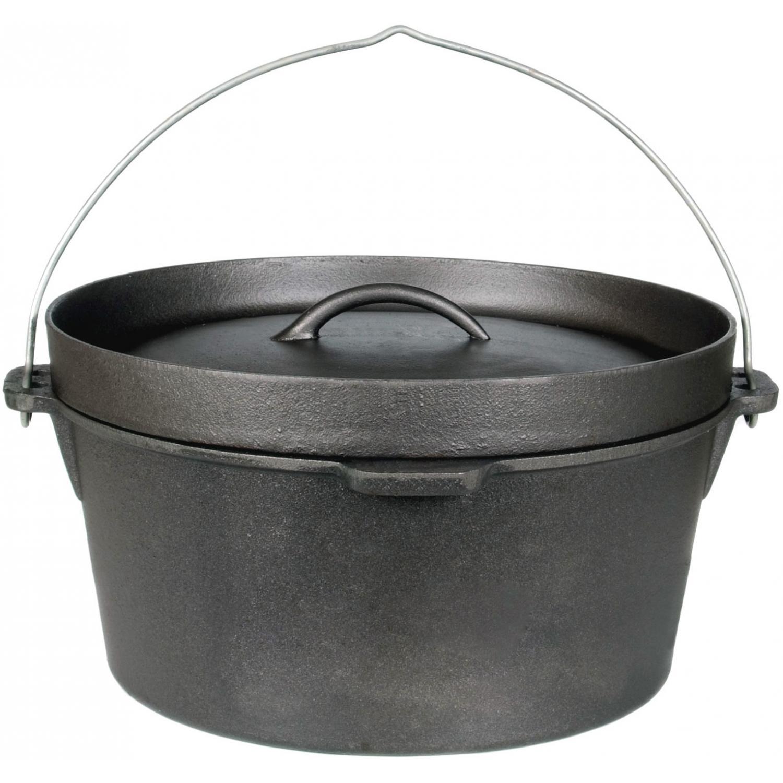 Cajun Cookware Pots 9 Quart Seasoned Cast Iron Camp Pot - GL10475S