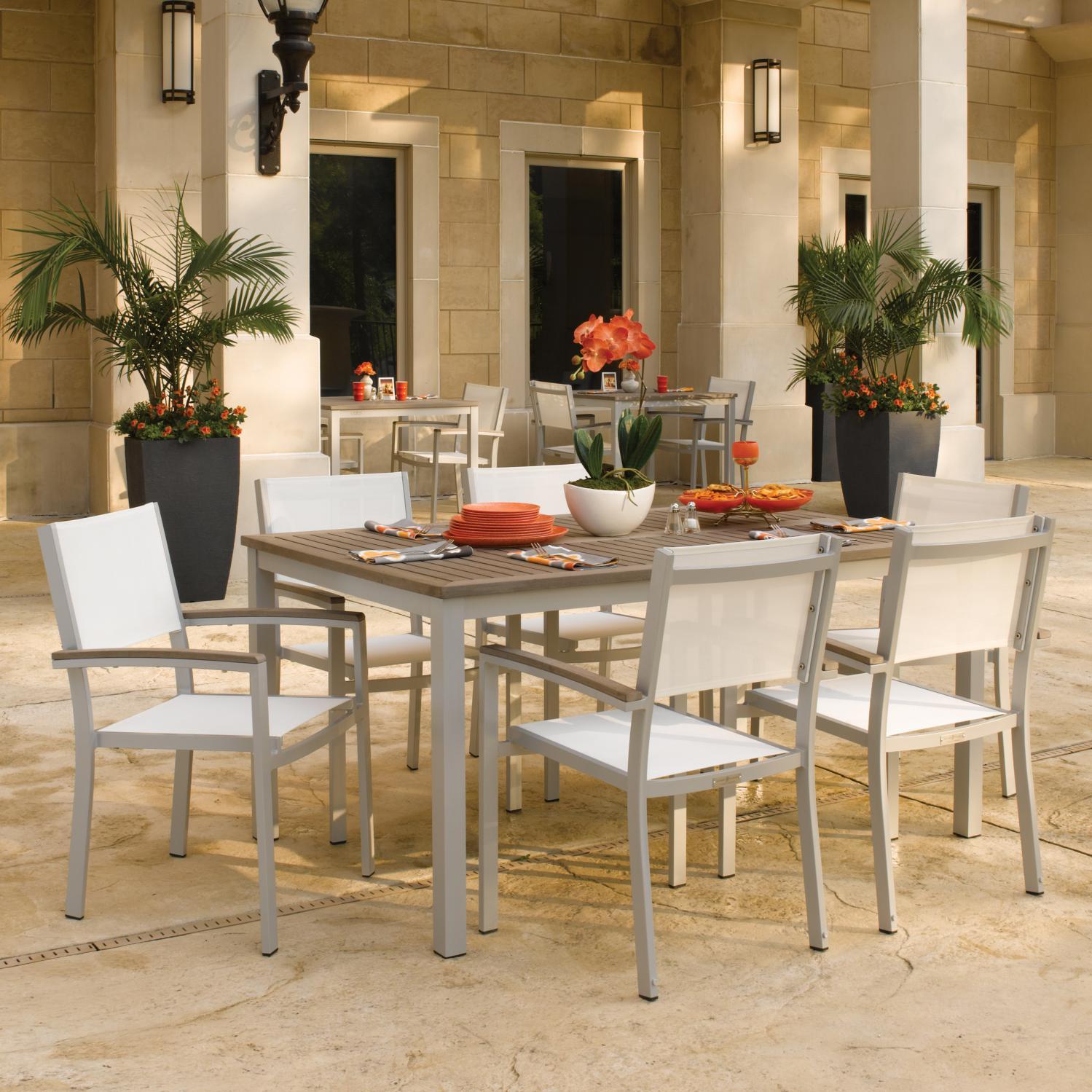 Oxford Garden Designs Travira 7 Piece Aluminum Patio Dini...