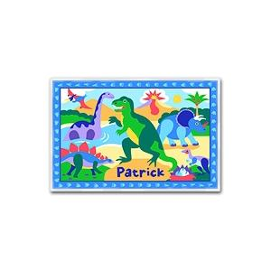 Olive Kids Personalized Laminate Placemat - Dinosaurland