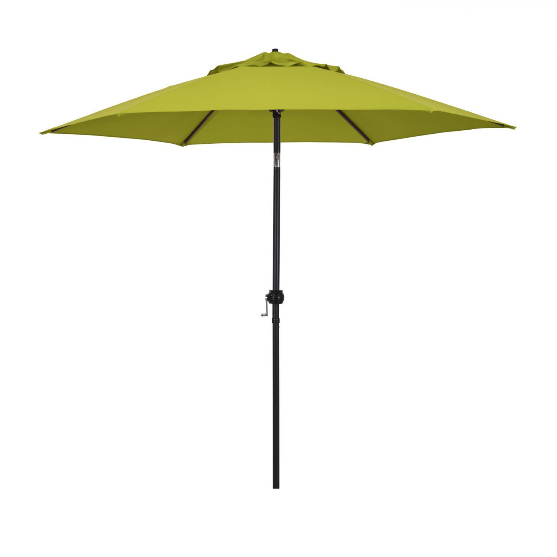 Astella 9 Ft. Aluminum Push Tilt Patio Umbrella W/ Crank Lift - Black Frame / Polyester Lime Green Canopy - Eco906d709-p29