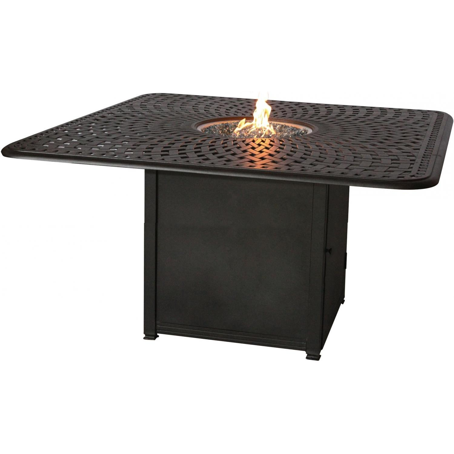 Darlee Counter Height Propane Fire Pit Dining Table - Antique Bronze at Sears.com