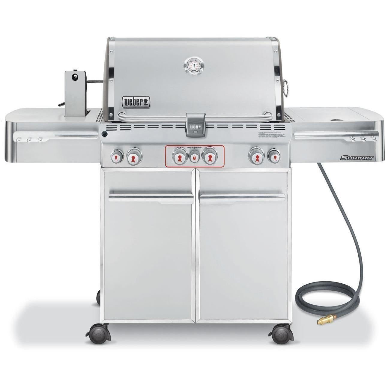 Weber Summit S-470 Natural Gas Grill On Cart With Rotisserie, Sear Burner & Side Burner 2730964