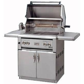 Luxor Gas Grills 30 Inch All Infrared Natural Gas Grill On Cart With Rotisserie AHT-30FR-NG