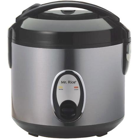 Sunpentown 6 Cups Stainless Steel Rice Cooker - SC-1201S