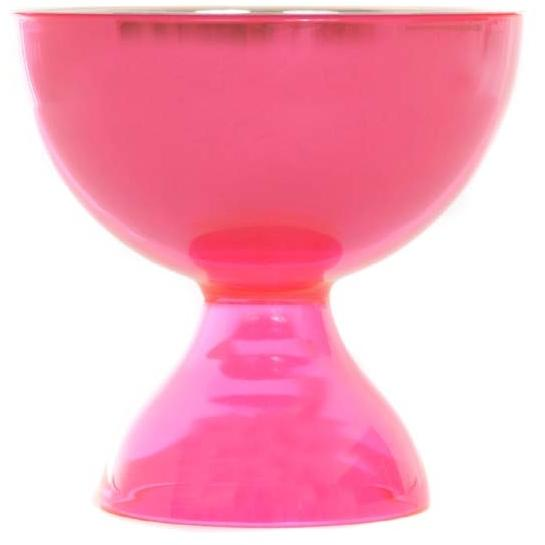 Oggi 2 Piece Acrylic And Stainless Steel Dessert Bowl - PINK
