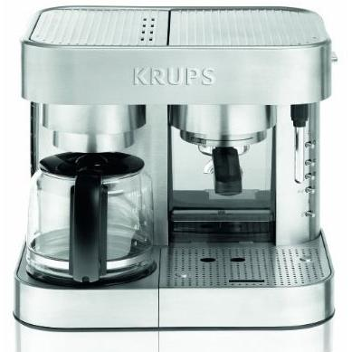Picture of Krups Combination Espresso Machine - Stainless Steel - XP604050