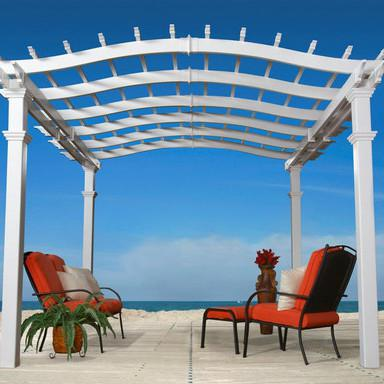 New England Arbors Bellagio 10 X 10 Ft Vinyl Pergola