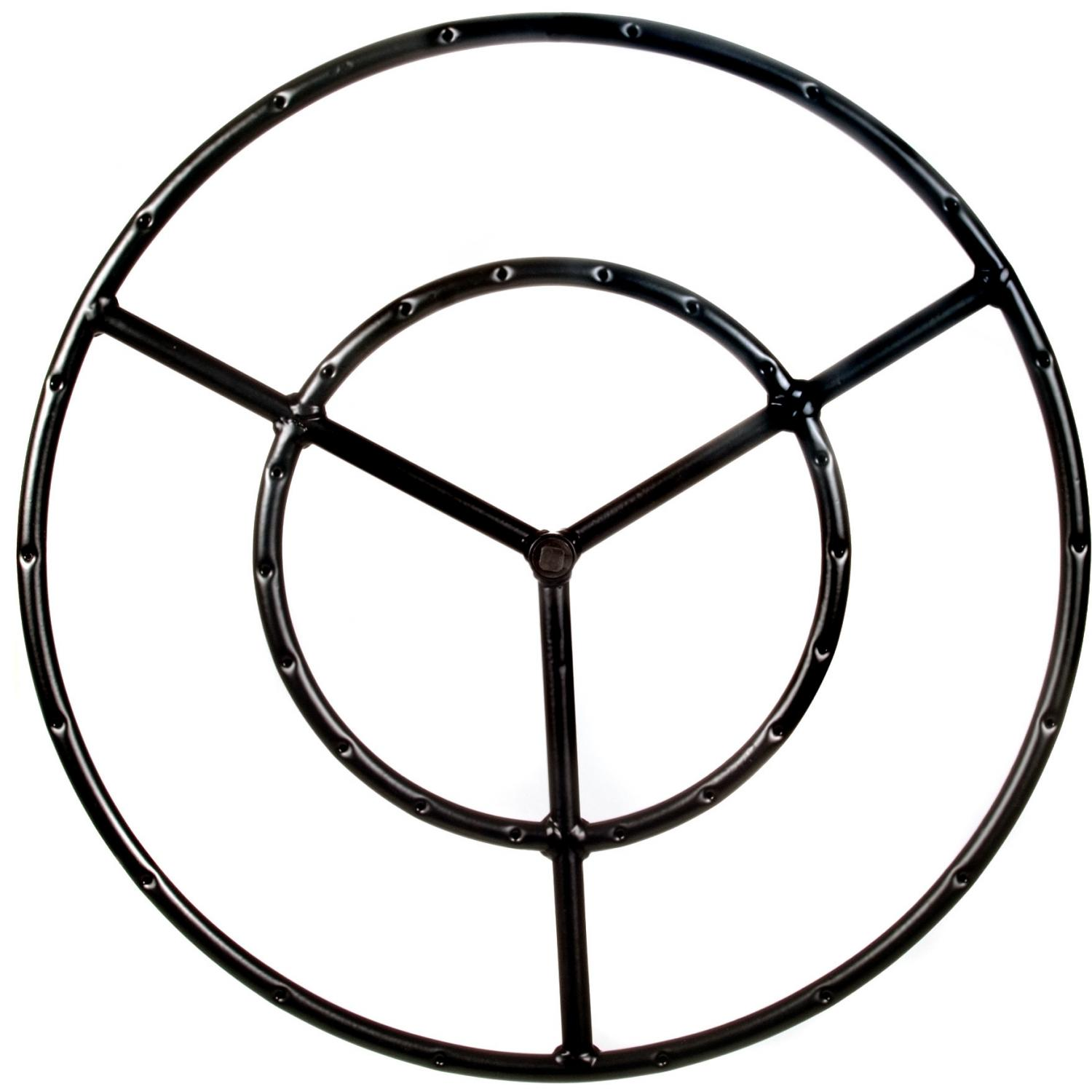 19 Inch Round Double Natural Gas Fire Pit Ring