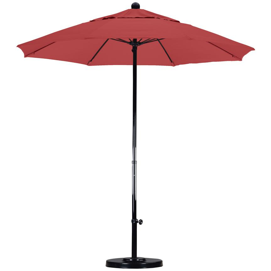 California Umbrella Octagonal 7.5 Ft Fiberglass Patio Umbrella With Push Lift And Fiberglass Ribs 2909290