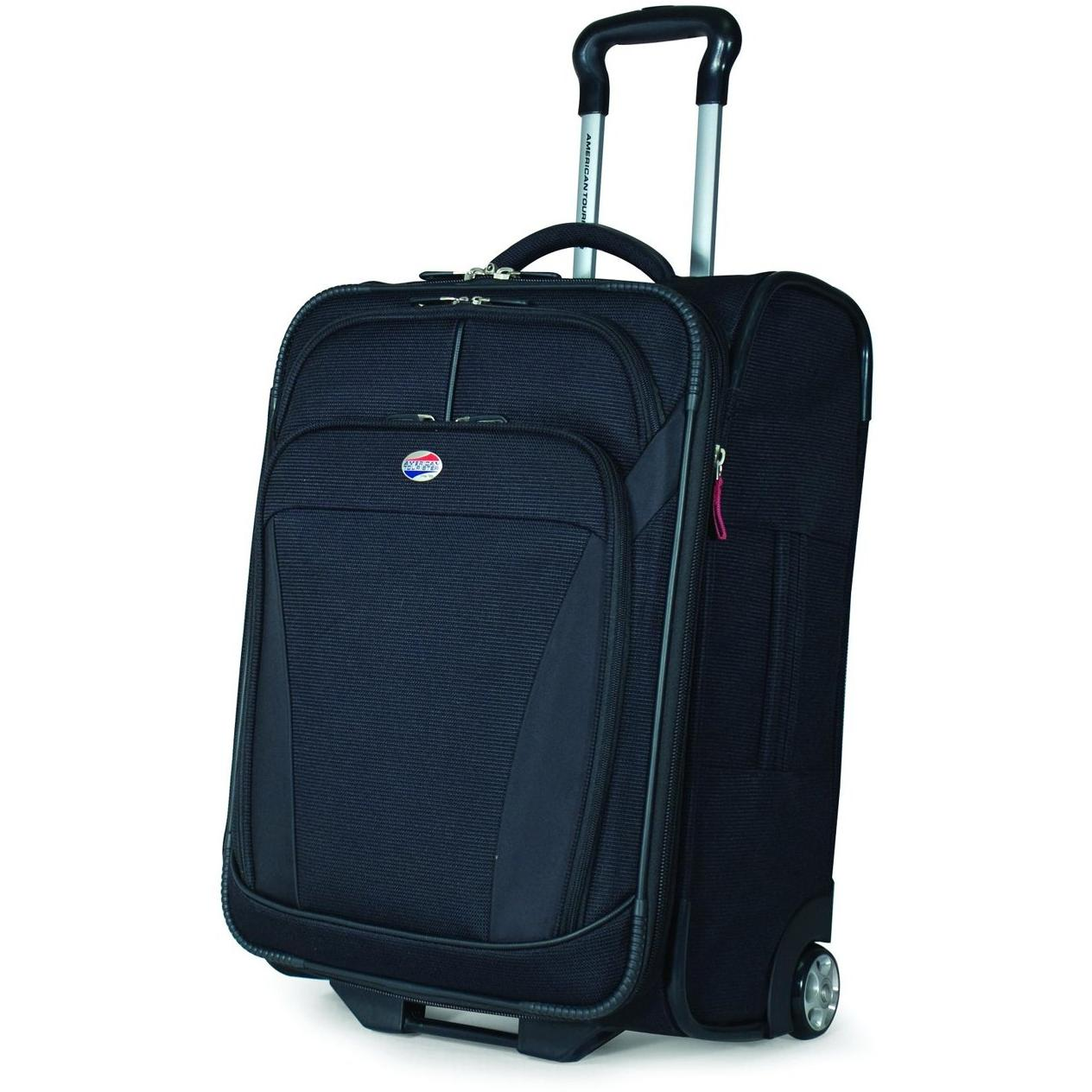 American Tourister ILite DLX 21 Inch Carry-On Rolling Luggage - Black