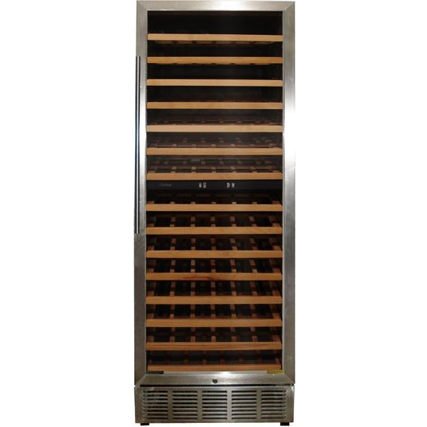 VinoTemp VT-188MSW 160 Bottle Wine Cellar - Glass Door / Stainless Cabinet