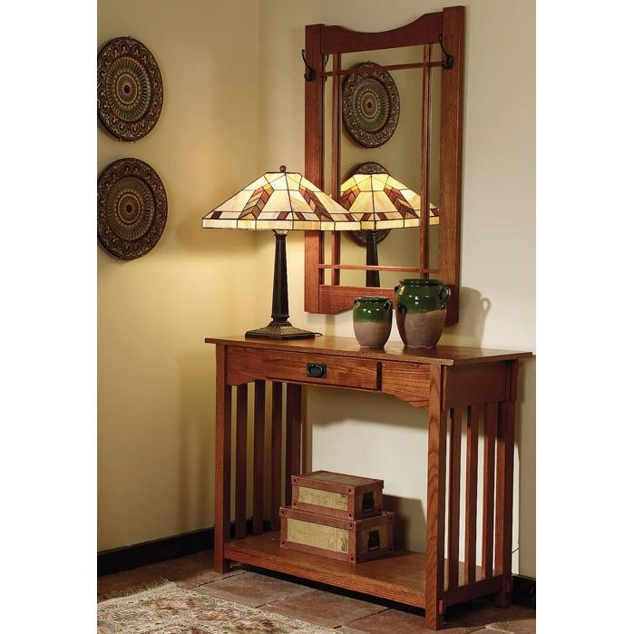 Powell Furniture - Mission Oak Console & Mirror - 993-289