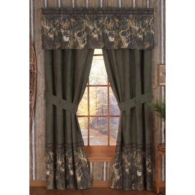 Browning Whitetails Window Curtain